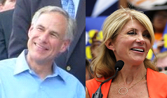 Both Greg Abbott and Wendy Davis try to win over voters through the social media.