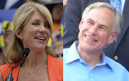 Wendy Davis and Greg Abbott win the primary election for Governor.