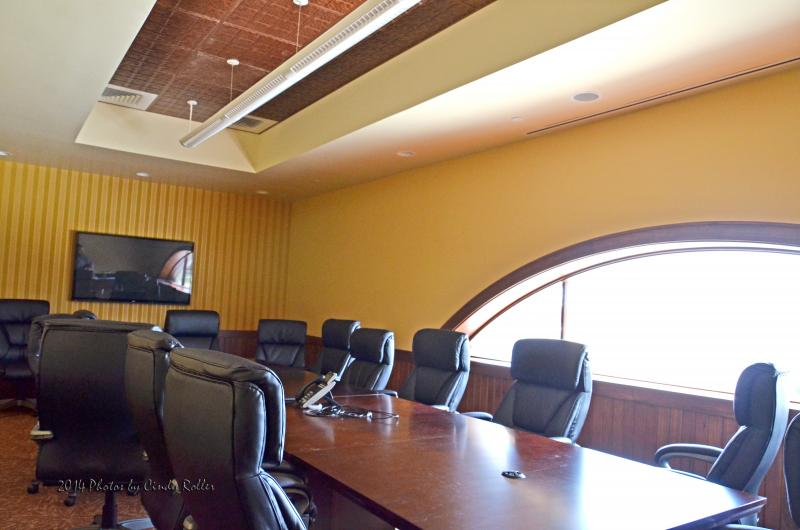 The new City Hall boardroom.
