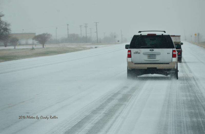 "Icy conditions developed quickly on roadways, as small ""thundersleet"" storms moved across the region"