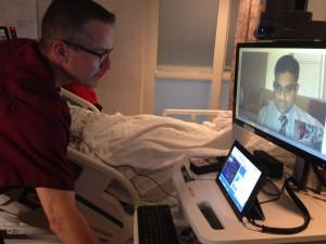 The telemedicine connects doctors to patients hundreds of miles away.