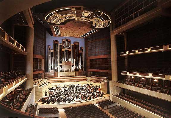 The Eugene McDermott Concert Hall at the Meyerson Symphony Center in Dallas.