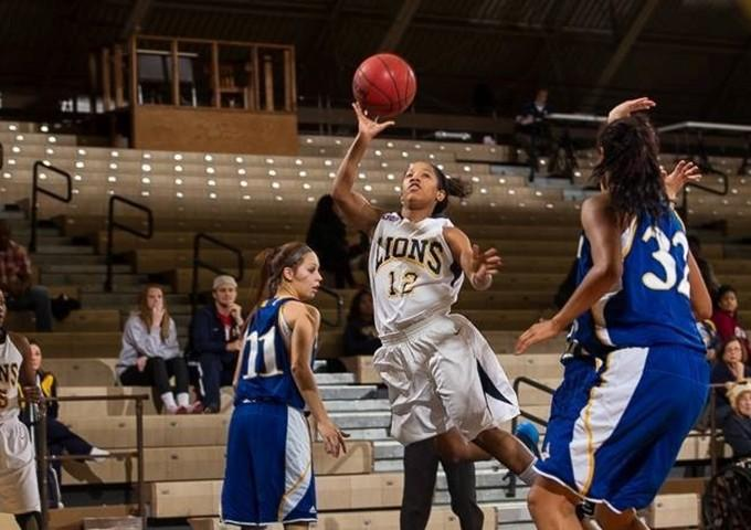 Freshman Alize Pegue leads the Lions in assists with 2.7 per game.