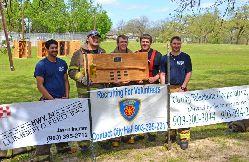 Fireman's competition winners.