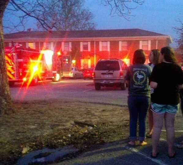 Commerce FD responds to a blaze on the first floor of the Kappa Delta house on the A&M-Commerce campus