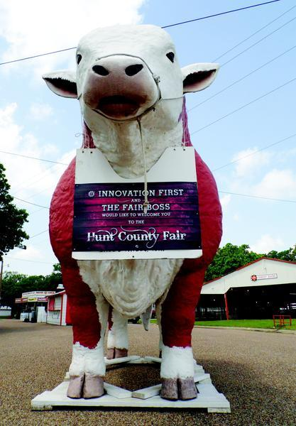 """The Fair Boss"" will again welcome visitors to the Hunt County Fair, which begins this evening. The 2014 Hunt County Fair and Livestock Show, presented by Innovation First International, continues through May 4."
