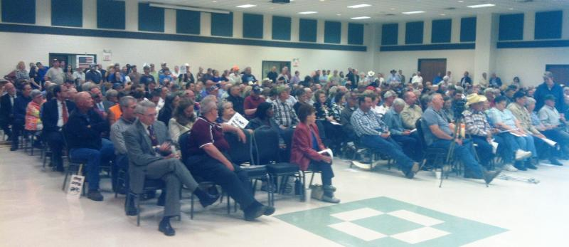 Attendees at the Apr. 29 forum in Mt. Pleasant.