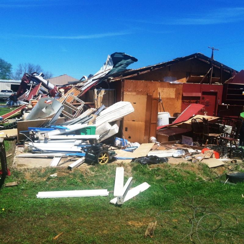 70 homes were damaged in the April 3 storm.