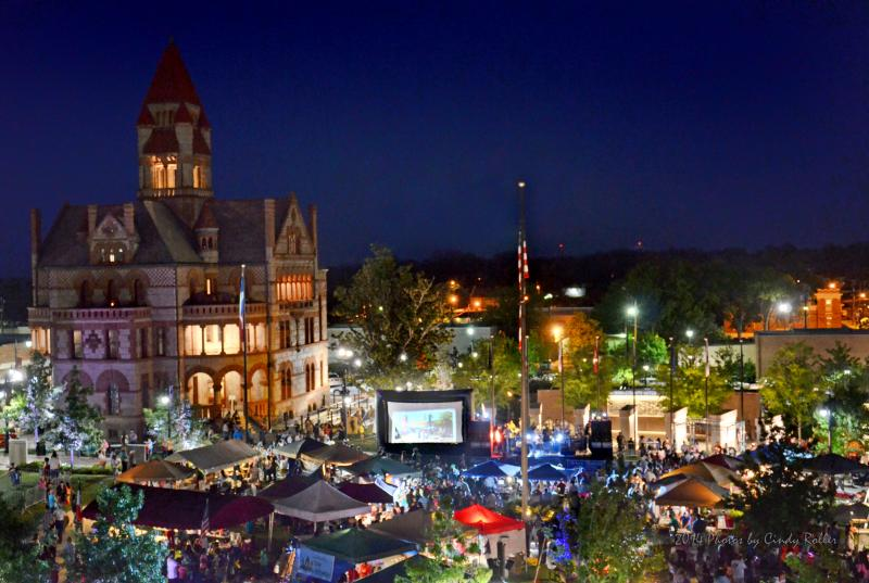 The Celebration Plaza is where the Cinco de Mayo Celebration took place in Sulphur Springs.