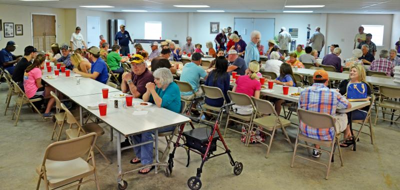 The Klondike Volunteer Fire Department drew crowds of people into their fish fry on April 26.