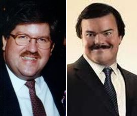 "Bernie Tiede was played by actor Jack Black in the movie about the murder of Marjarie Nugent called ""Bernie""."