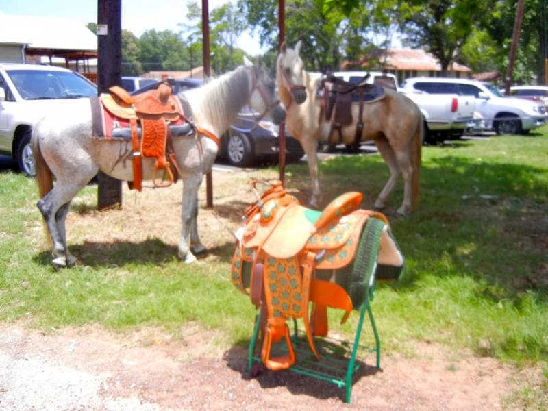 "Horse saddles can be works of art too, according to some vendors at the ""Far Out Art Fest"""
