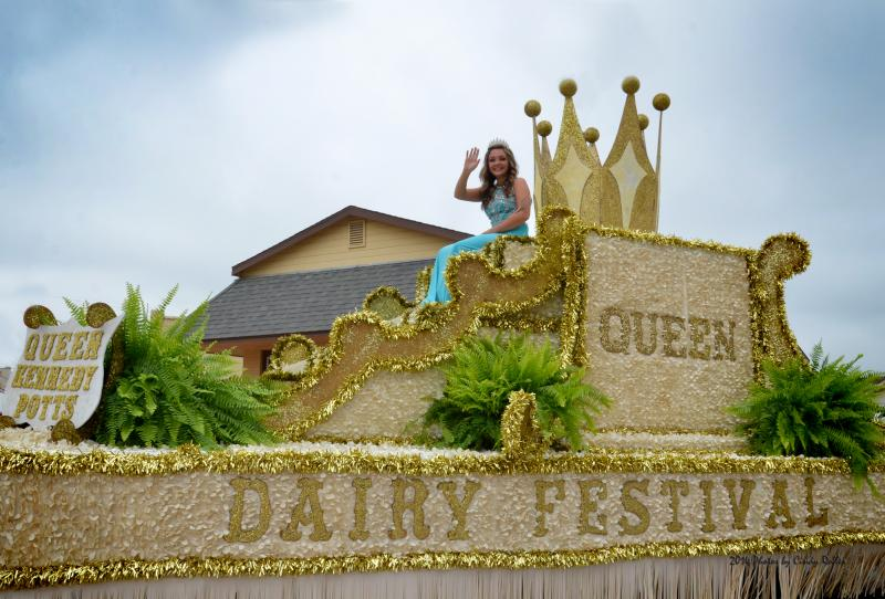 Hopkins County Dairy Festival Queen Kennedy Potts waves during the parade held June 14 in Sulphur Springs.