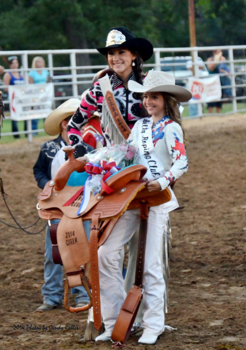 Rodeo queen Alysia McCormick and others at the 2014 Cooper Rodeo.