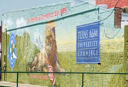 The new mural is in downtown Commerce.