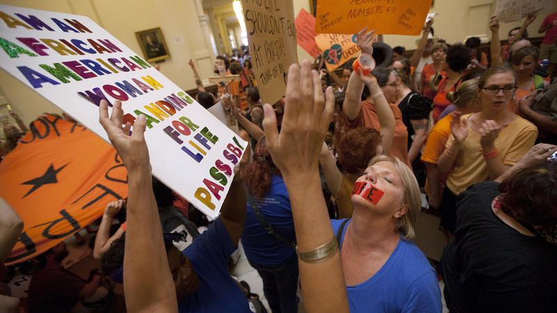 Protesters from both sides of the abortion issue filled the Texas capitol in 2013 during the legislative session.