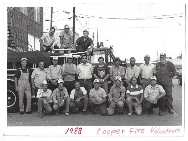 Cooper Volunteer Fire Department 1988