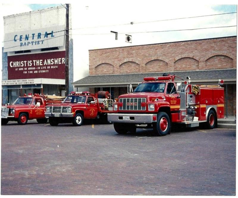 Cooper VFD fire trucks on display on the Square