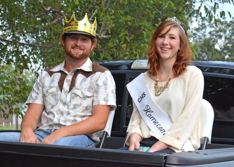 2013 King Ty Oliver and Queen Josie Preas during last Monday's parade.