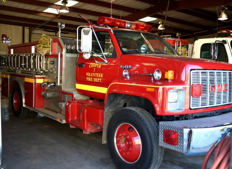 Cooper VFD's big red fire truck will be on display for photos. Bring the children to enjoy the Open House.