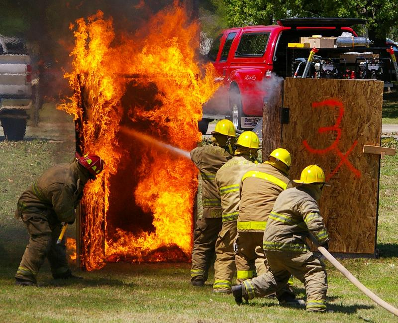 The Cooper VFD competes in the annual Fire Fighters Challenge at the Delta County Fair.