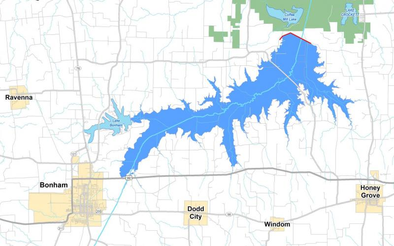 texas district map with Lower Bois Darc Creek Reservoir Proposal Put Hold on Hotel Map together with Who We Are besides High Schools Near further Richmond likewise Ashland Covered.