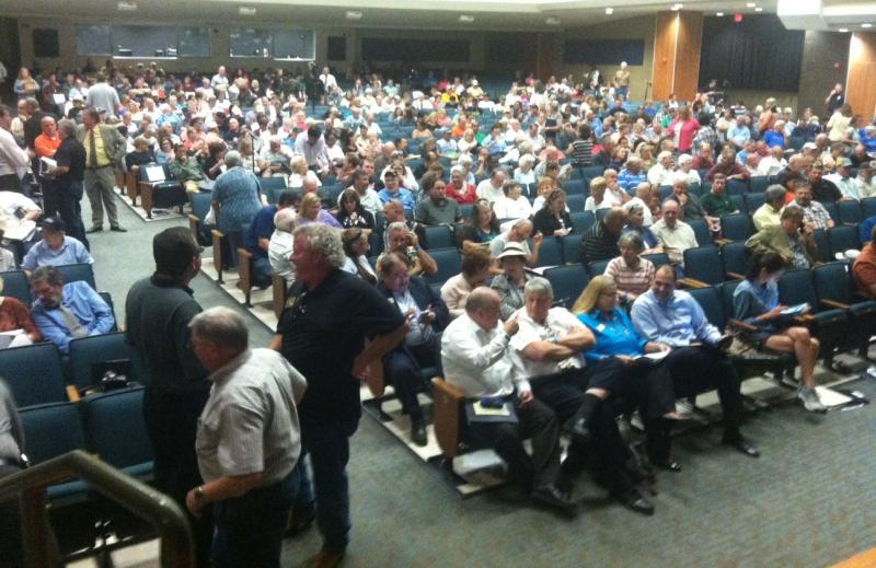 About 1,300 people attended the public meeting hosted by the North Central Texas Council of Governments in Rockwall on Sept. 22.
