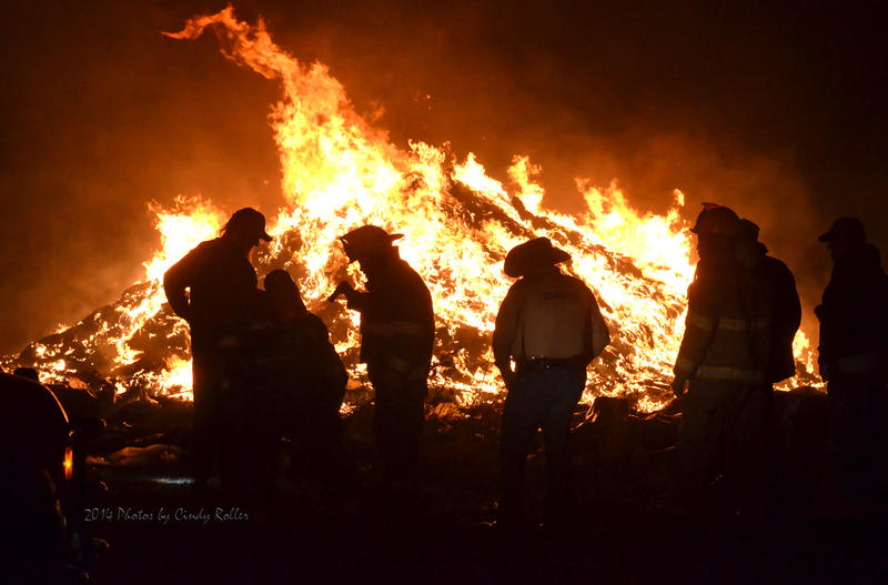 First responders reacted quickly to a Thursday evening fire just outside of Delta County.