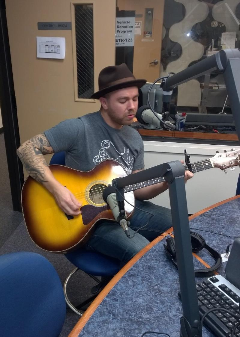 Brandon Callies performing live at KETR.