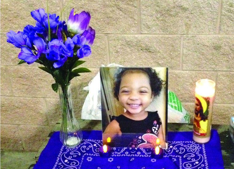 Aliah Walker, 3, of Celeste, died on Dec. 30.