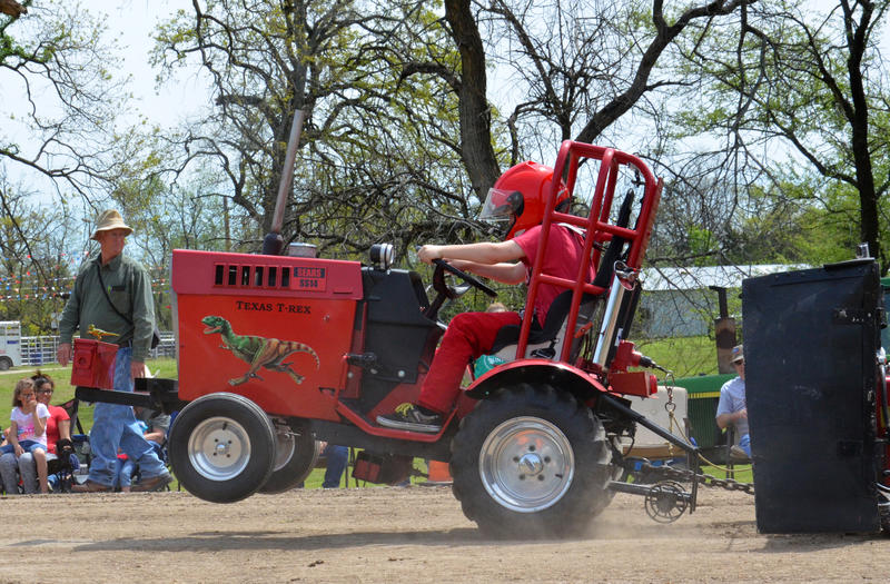 Fan-favorite LSGTPA Tractor Pull as seen with local Lane Duncan on Texas T-Rex returns to the Delta County Fair.