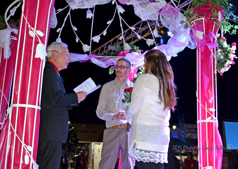 Hopkins County Judge Robert Newsom weds Jason Williams with Laura Melton on Celebration Plaza on Friday, Feb. 13.