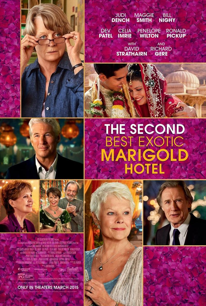 The Second Best Exotic Marigold Hotel is the only movie Alice got to see this week due to the weather.