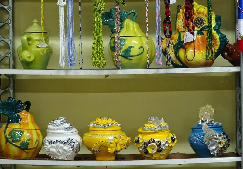 Ceramic pots representing the many gods of the Santeria religion, on display at the Yoruba Cultural Center in Havana.
