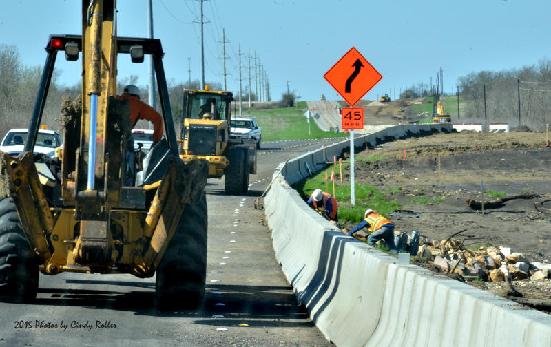 Construction continues on S.H. 24 west of Cooper, but the road has been re-opened, after flooding closed the road March 20-22.