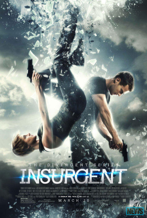 Insurgent is the second movie in the Divergent trilogy, starring Shailene Woodley and Theo James.