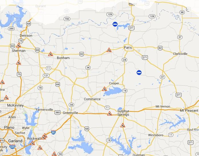 Construction along I-30, U.S. Hwy. 82 and S.H. 24 continues through this month. The structural damage near the intersection of U.S. Hwy. 82 and S.H. 78 does not pose a danger to drivers, TxDOT has said.