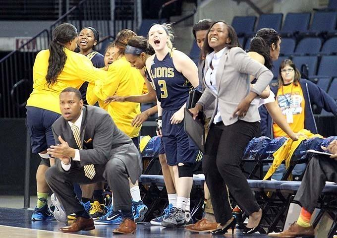 The Texas A&M University-Commerce women's basketball team earned an upset victory over favored Cameron University, 80-65, in Allen on March 5.