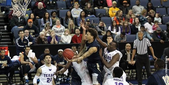 Senior forward LaDon Carnegie scored 13 points to help the Lions upset Tarleton State 53-51 in the Lone Star Conference semifinals.