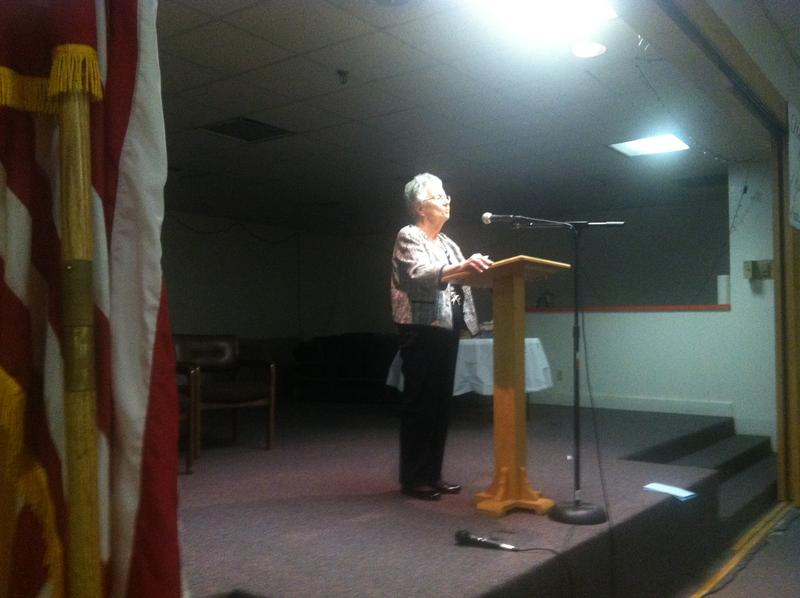 Aleksandra Goode told her story of surviving the Holocaust and building a new life in the United States at the Hope Center of Greenville in October 2014.