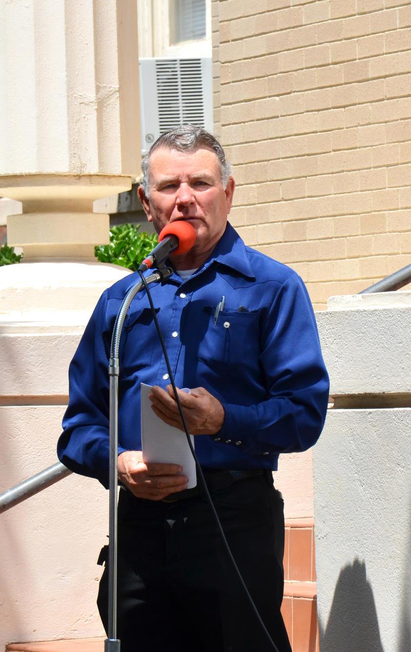 Bro. Eugene Adams speaks at a previous National Day of Prayer.