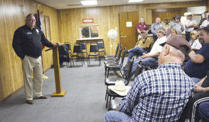 Hunt County Sheriff Randy Meeks hosted a town hall meeting Thursday night for the residents of the City of Campbell.