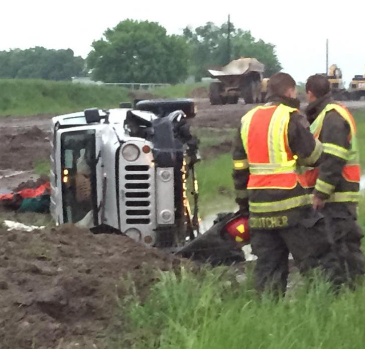 No injuries occurred in two-vehicle rollover on State Highway 24.
