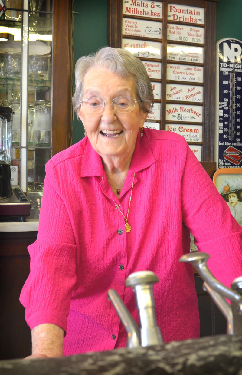 Mabel Wheat, legendary former milkshake maker at Miller's Ole Soda Fountain, passes away in Cooper, Texas.