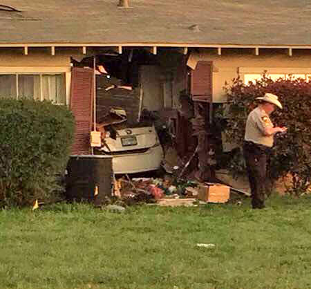 This Prius crashed into a home in Greenville as the result of a multi-county high speed pursuit Wednesday evening.