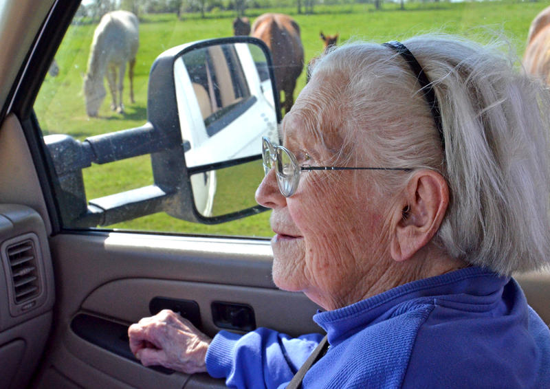 At 97-years old Wilma White tends to her farm in Hopkins County.