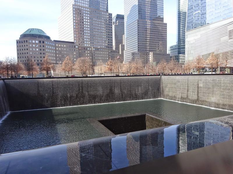 Footprint Pool at the 9/11 Memorial in New York City.