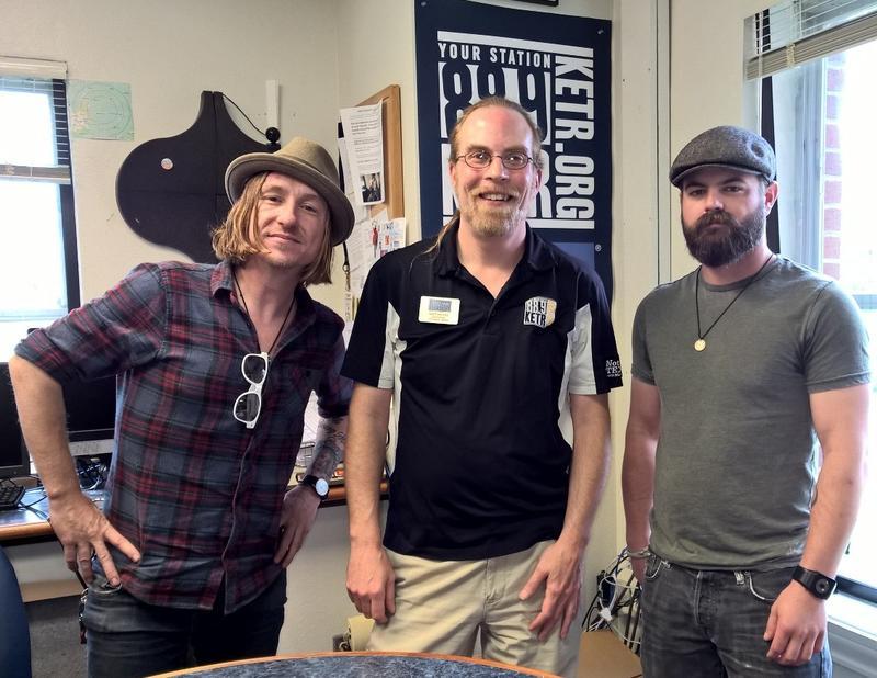 (l to r) Jetta In The Ghost Tree singer Brandin Lea, Notably Texan's Matt Meinke, and guitarist Eric Webb