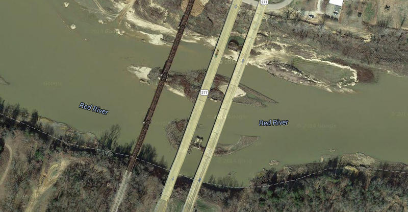 Satellite view of US Highway 271