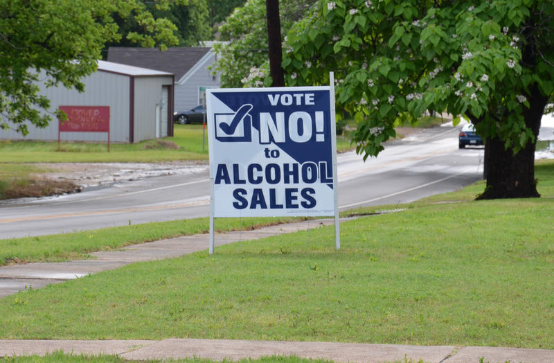 "Signs stating ""vote no"" can be seen around the City of Cooper including in front of local churches."